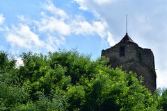 Oude historische toren Czchow Polen Stock Afbeeldingen