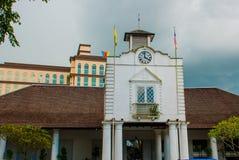 Oude Hof woningbouw in Kuching Hof Complexe het Huis werd gebouwd in 1871 als zetel van de overheid van Sarawak ` s maleisië born Royalty-vrije Stock Foto's