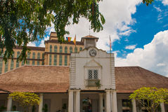 Oude Hof woningbouw in Kuching Hof Complexe het Huis werd gebouwd in 1871 als zetel van de overheid van Sarawak ` s maleisië born Royalty-vrije Stock Afbeeldingen