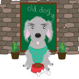 Oude hond stock illustratie