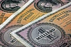 Oude Hongaarse miljard pengogeld royalty-vrije stock foto's