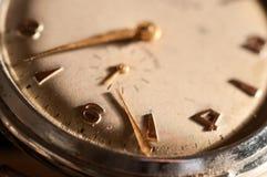 Oude horloge dichte omhooggaand Stock Foto's