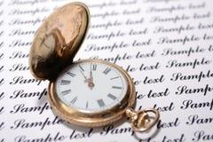 Oude horloges Royalty-vrije Stock Foto's