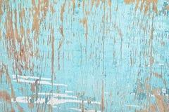 Oude houten achtergrond met verf neer schil royalty-vrije stock afbeelding