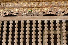 Oude houten balustrade Stock Afbeelding