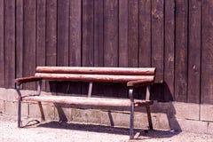 Oude houten bank Stock Fotografie