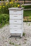 Oude Houten Bijenbijenkorf Royalty-vrije Stock Fotografie
