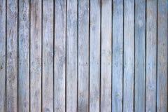 Oude houten blauwe geschilderde raadsachtergrond stock foto