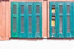 Oude houten blinde zon Royalty-vrije Stock Afbeelding