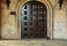 Oude houten boogdeur Royalty-vrije Stock Foto