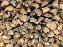 Oude houten boomstam Achtergrond en ringen van hout stock afbeelding