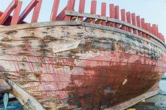 Oude houten boot Royalty-vrije Stock Fotografie