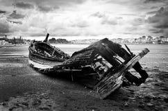 Oude houten boot Stock Foto