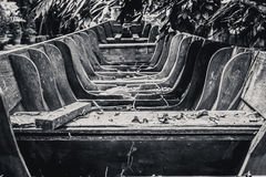Oude houten boot Stock Afbeeldingen