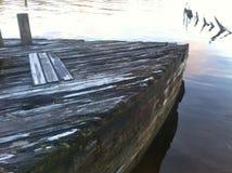 Oude houten boot reck Tasmanige Royalty-vrije Stock Foto