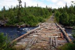 Oude houten brug Royalty-vrije Stock Fotografie