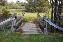 Oude houten brug Stock Foto