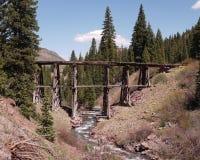 Oude houten brug Stock Afbeeldingen