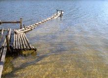 Oude houten brug Royalty-vrije Stock Foto