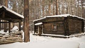 Oude houten cabine Royalty-vrije Stock Afbeelding