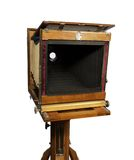 Oude houten camera Stock Foto