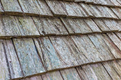 Oude houten dakdakspanen Royalty-vrije Stock Fotografie