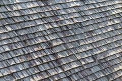 Oude houten dakdakspanen Royalty-vrije Stock Foto