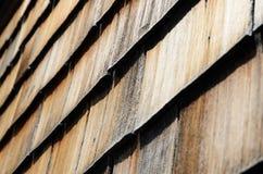 Oude houten dakspaan Royalty-vrije Stock Foto