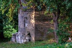 oude houten de architectuurdetails van het plattelandshuis royalty-vrije stock foto