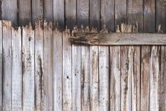 Oude houten de textuurachtergrond van de raadsomheining Stock Foto's