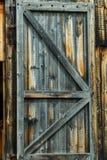 Oude houten deur stock fotografie