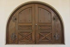 Oude houten deur. Stock Foto's