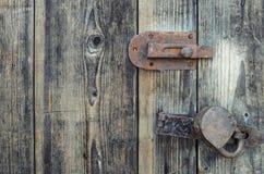 Oude houten deur Stock Afbeelding