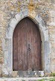 Oude houten deur Stock Foto's