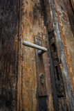 Oude houten deur en klink Royalty-vrije Stock Foto's