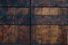Oude houten deur in Europa Stock Afbeelding