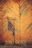 Oude houten deur grunge muur Stock Afbeelding