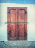 Oude houten deur in Sighisoara Stock Foto's