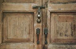 Oude houten Deur, uitstekende stijl royalty-vrije stock foto's
