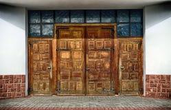 Oude houten deuren Royalty-vrije Stock Fotografie
