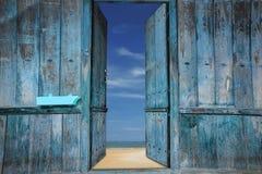 Oude houten deuren Royalty-vrije Stock Afbeelding