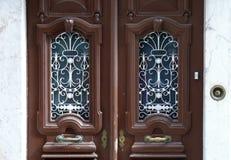 Overladen dubbele deuren Royalty-vrije Stock Fotografie