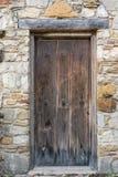 Oude houten deuropening Stock Foto