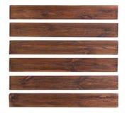 Oude houten die planken op witte achtergrond worden ge?soleerd royalty-vrije stock afbeelding