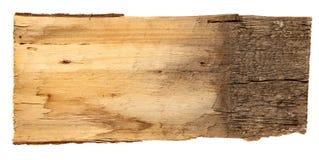 Oude houten die raad op witte achtergrond wordt geïsoleerd Royalty-vrije Stock Fotografie