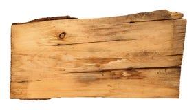 Oude houten die raad op witte achtergrond wordt geïsoleerd Royalty-vrije Stock Afbeeldingen