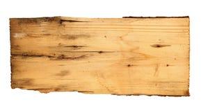 Oude houten die raad op witte achtergrond wordt geïsoleerd Royalty-vrije Stock Afbeelding