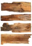 Oude houten die raad op witte achtergrond wordt geïsoleerd sluit omhoog van e royalty-vrije stock afbeelding
