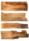 Oude houten die raad op witte achtergrond wordt geïsoleerd sluit omhoog van e stock afbeelding