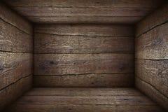 Oude houten doos royalty-vrije stock afbeelding